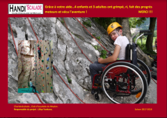 ENTRE-PRISES supports HANDI'SCALADE