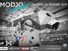 Bouldering contest at the Modjo climbing centre